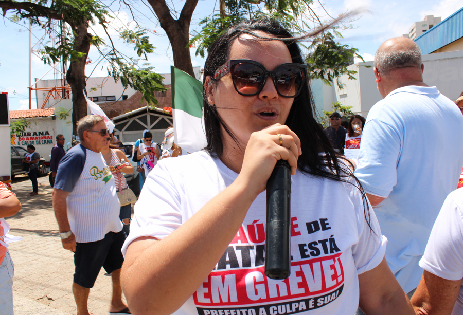 GREVE DA SAÚDE | Ato público no Distrito Sul - Sindsaúde RN